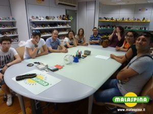 Foto di gruppo con i ragazzi del corso ITS