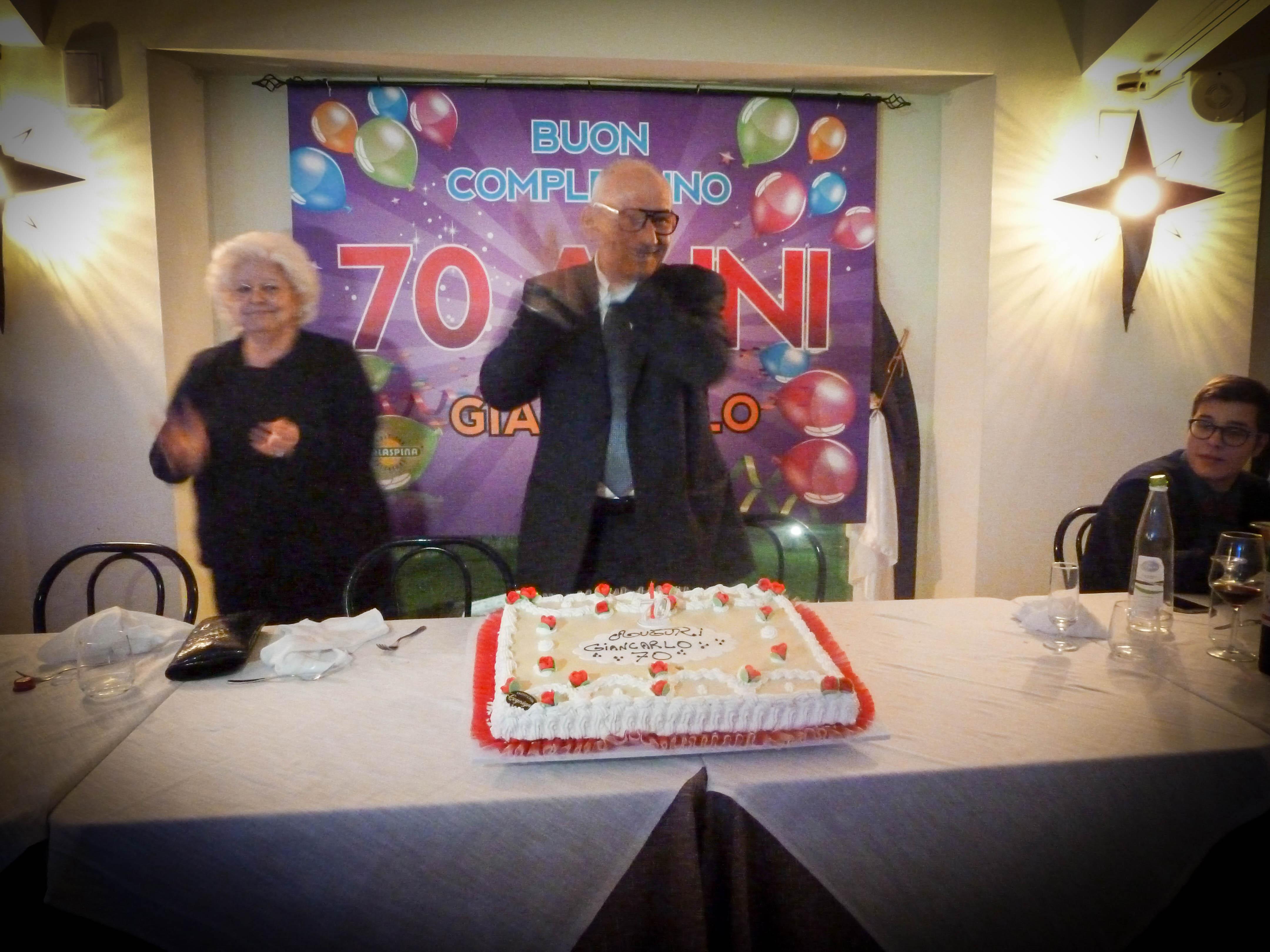Sorprese Per Un Compleanno un compleanno a sorpresa per i 70 anni di giancarlo - malaspina